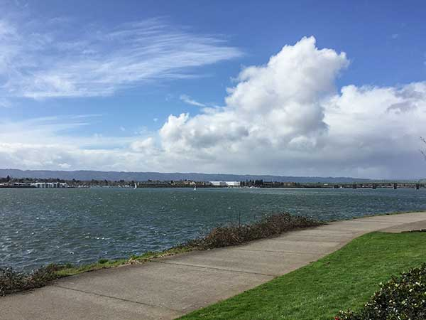 Columbia River on a windy February afternoon